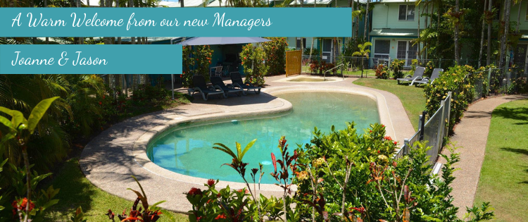 a warm welcome from our new managers at Coco Bay Resort Noosa