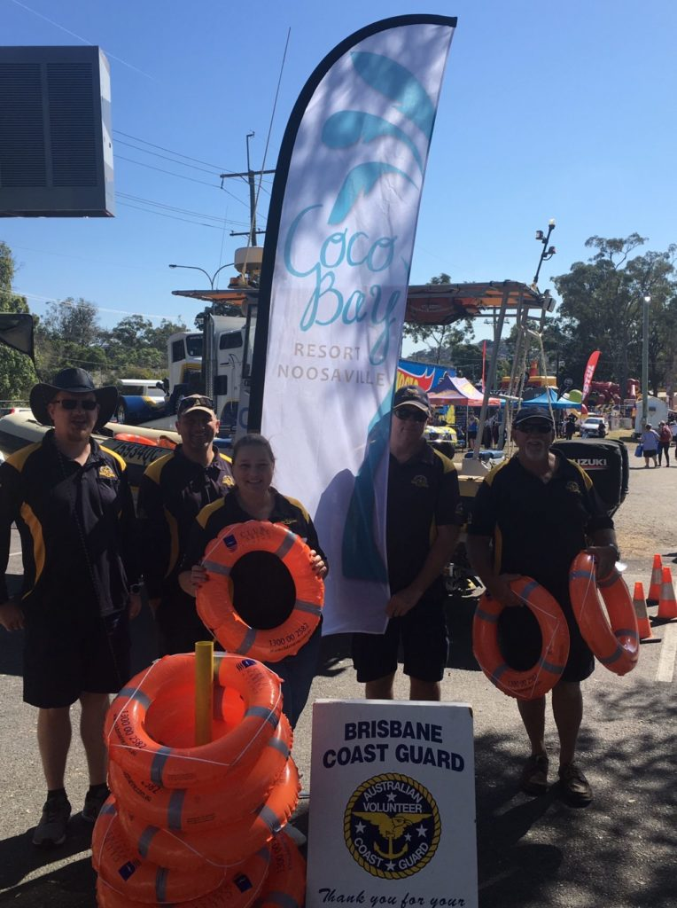 coco bay resort supports brisbane coastguard QF2