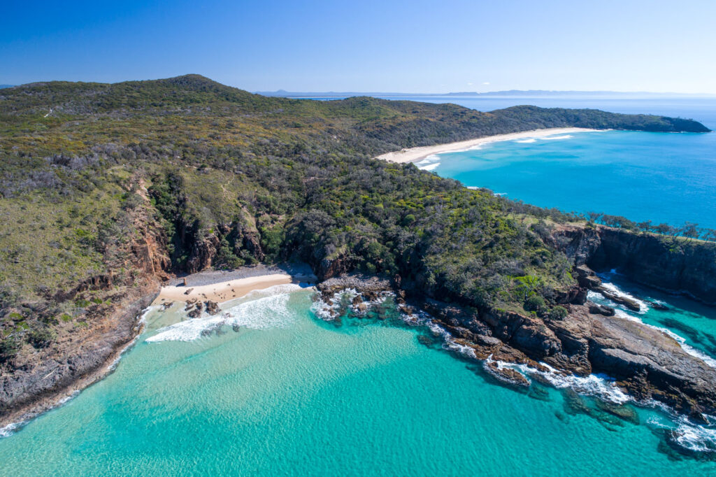 aerial of noosa national park by surf shots noosa