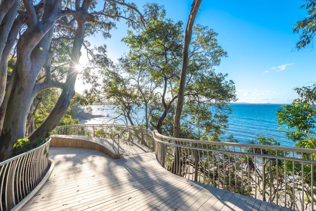 noosa main beach boardwalk by surf shots noosa