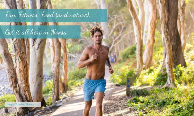 male runner in noosa national park